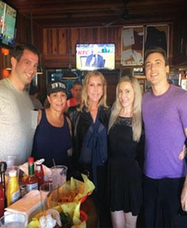 Enjoying lunch with client Victoria Gunvalson!